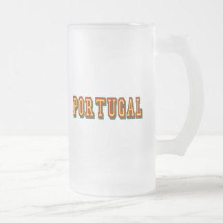 """Marcaの""""ポルトガル""""のpor FásはFutebol Portuguêsをします フロストグラスビールジョッキ"""