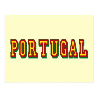 "Marcaの""ポルトガル""のpor FásはFutebol Portuguêsをします ポストカード"