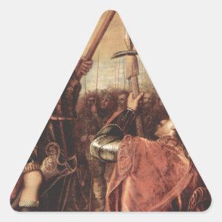 Marchese del Vasto Addressing彼の軍隊 三角形シール