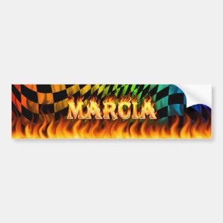 Marciaの実質火および炎のバンパーステッカーは設計します バンパーステッカー