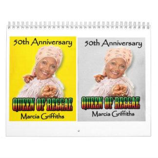 Marcia Griffithsレゲエ女王第50記念日 カレンダー