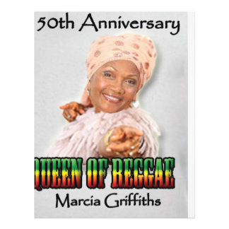 Marcia Griffithsレゲエ女王第50記念日 チラシ