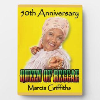 Marcia Griffithsレゲエ女王第50記念日 フォトプラーク