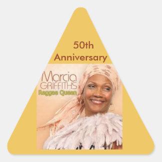 Marcia Griffiths第50 Anniversa -レゲエの女王 三角形シール