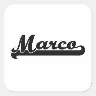 Marcoのクラシックなレトロの一流のデザイン スクエアシール