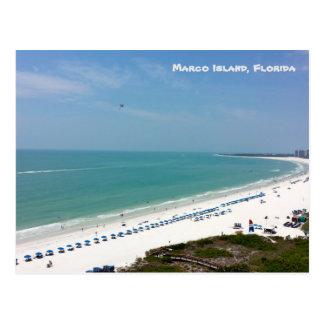 Marcoの島のフロリダのビーチメキシコ湾 ポストカード