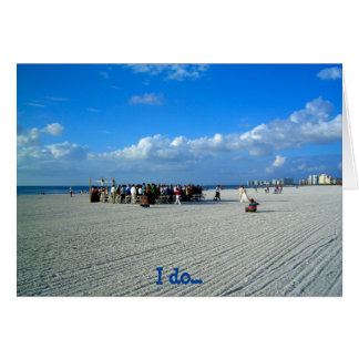 Marcoの熱帯島フロリダ-ビーチ結婚式 カード