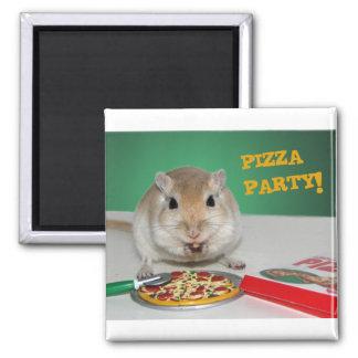 Marcoスナネズミのピザパーティーの磁石 マグネット