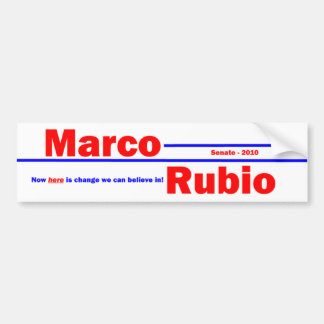 Marcoルビオ3 バンパーステッカー