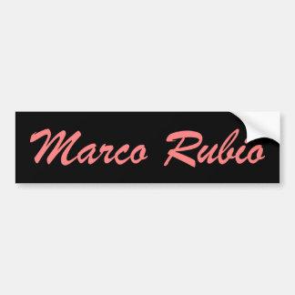 Marcoルビオ(ピンクおよび黒) バンパーステッカー