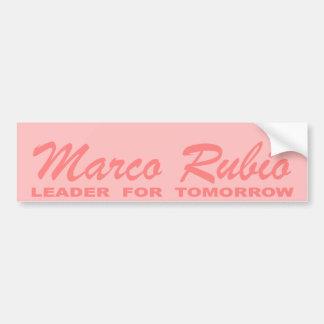 Marcoルビオ: 明日(ピンク)のリーダー バンパーステッカー