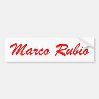 Marcoルビオ(赤と白) バンパーステッカー