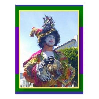 Mardis幸せなGrasのピエロ ポストカード