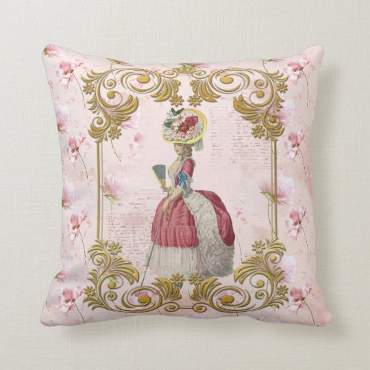 Mare Antoinette Floral  Pillow pink クッション
