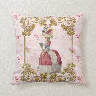Mare Antoinette Floral Pillow pink クッションC クッション