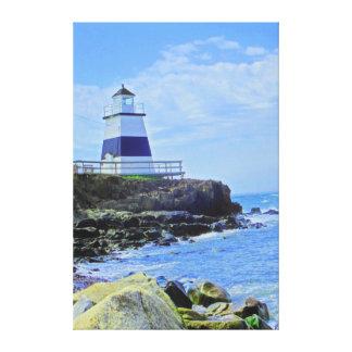 Margaretsvilleの灯台ノバスコシアカナダ キャンバスプリント