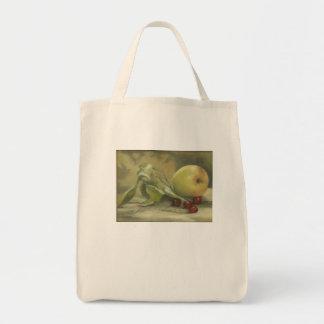 """Margie Danielsが絵を描く""""Apple及びさくらんぼ"""" トートバッグ"""