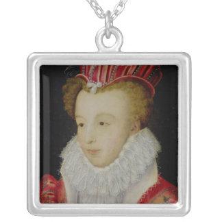 Marguerite de Valois c.1572 シルバープレートネックレス