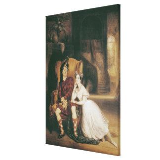 MarieおよびポールTaglioniバレエの「La Sylphide キャンバスプリント