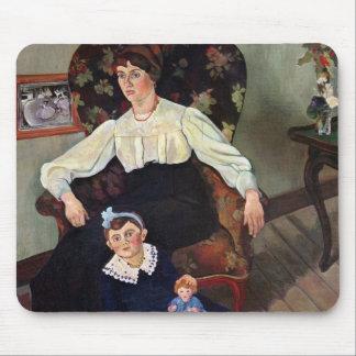 Marieのコカノキおよび彼女のDaughter 1913年のポートレート マウスパッド