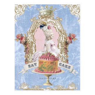 Marieはケーキの…郵便はがきをアントワネット食べます ポストカード