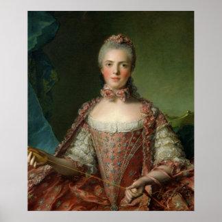 Marieアデレード1756年のポートレート ポスター