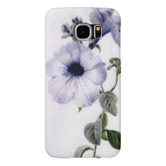 Marieアンのペチュニアのヴィンテージの花の水彩画の芸術 Samsung Galaxy S6 ケース