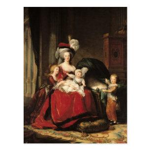Marieアントワネットおよび彼女の子供1787年 ポストカード