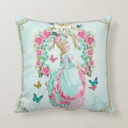 Marieアントワネットの枕クッションの薔薇のフレーム クッション