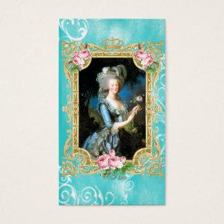 MarieアントワネットLe Brun Blueのダマスク織の名刺 名刺