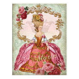 MarieアントワネットVerseillesの女王の郵便はがき ポストカード