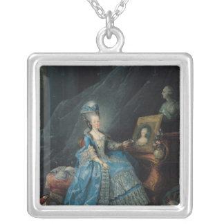 Marieテレーズdeサボア1775年 シルバープレートネックレス
