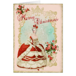 Marie Antoinette  Greeting Card Christmas Rose カード