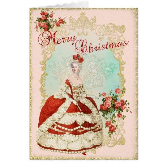 Marie Antoinette  Greeting Card Christmas Rose カード