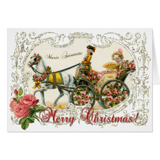 Marie Antoinette  Greeting Card White Christmas カード