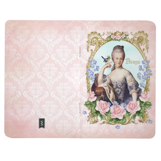 Marie Antoinette Pink Damask Antonia Rose Journal ポケットジャーナル