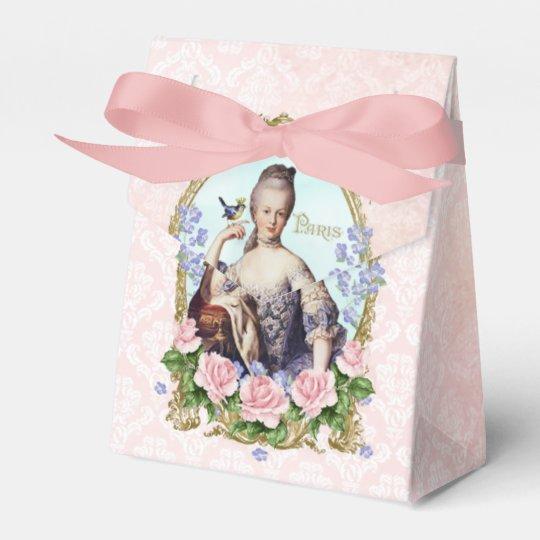 Marie Antoinette Pink Damask Rose Favor Box フェイバーボックス