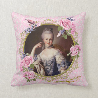 Marie Antoinette Pink Floral Pillow クッション