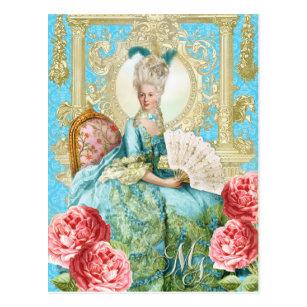 Marie Antoinette Portrait Blue chair Postcard ポストカード