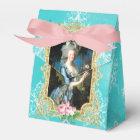 Marie Antoinette Portrait Blue Damask Favor Box フェイバーボックス