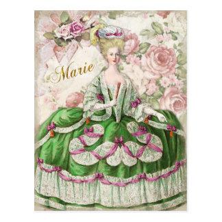 Marie Antoinette  Portrait Postcard Bouquet はがき