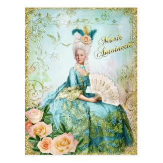 Marie Antoinette  Portrait Postcard Emerald garden ポストカード
