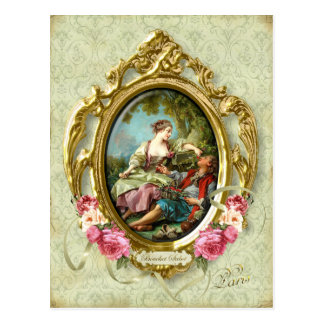 Marie Antoinette Rococo Lovers Girl Boy Postcard ポストカード