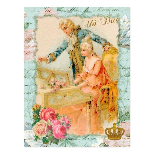 Marie Antoinette Rococo Piano Postcard ポストカード