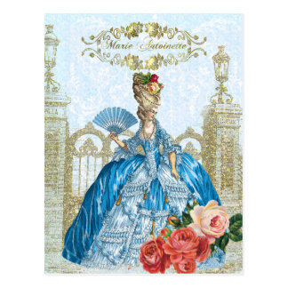 Marie Antoinette Versailles Blue Postcard ポストカード