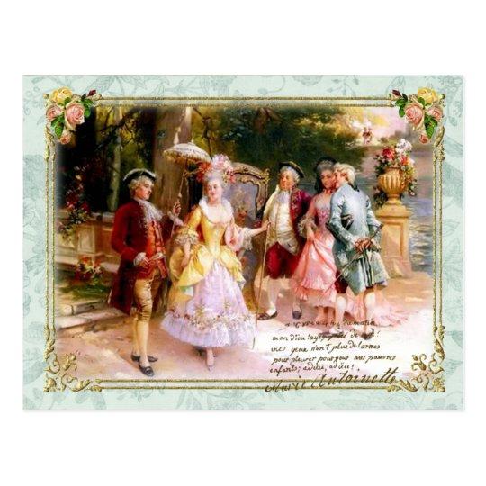 Marie Antoinette Versailles Garden Postcard ポストカード