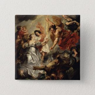 Marie de Mediciおよび彼女の和解 5.1cm 正方形バッジ