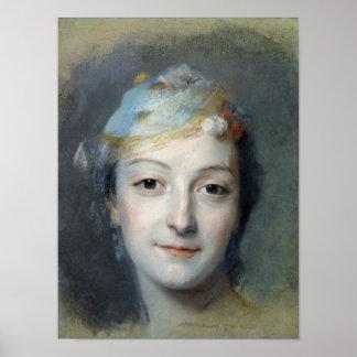Marie Fel 1757年のポートレート ポスター