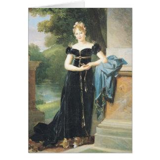 Marie Laczinskaの伯爵婦人Walewskaのポートレート カード
