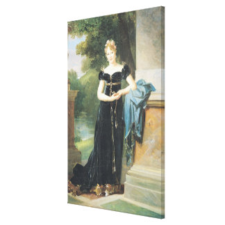 Marie Laczinskaの伯爵婦人Walewskaのポートレート キャンバスプリント